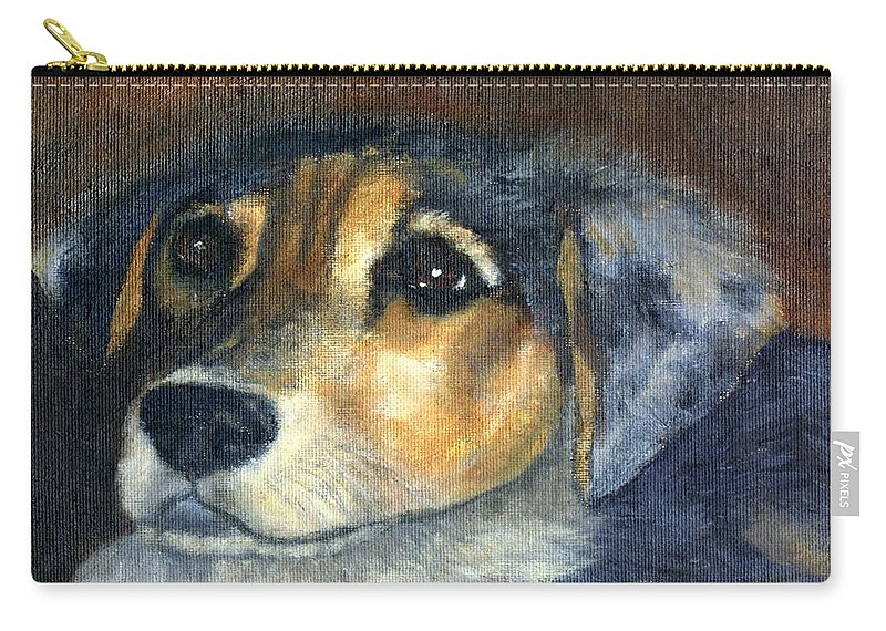 Dog Carry-all Pouch featuring the painting Roxie by Gail Kirtz