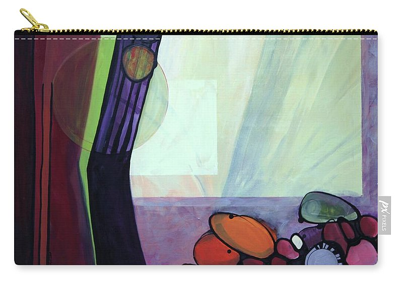 Abstract Carry-all Pouch featuring the painting Roxie by Marlene Burns