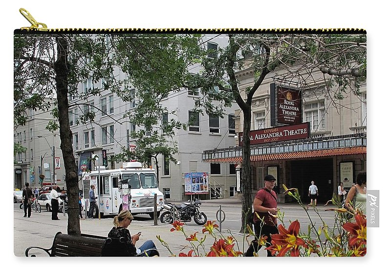 Royal Alexander Theatre Carry-all Pouch featuring the photograph Royal Alex by Ian MacDonald