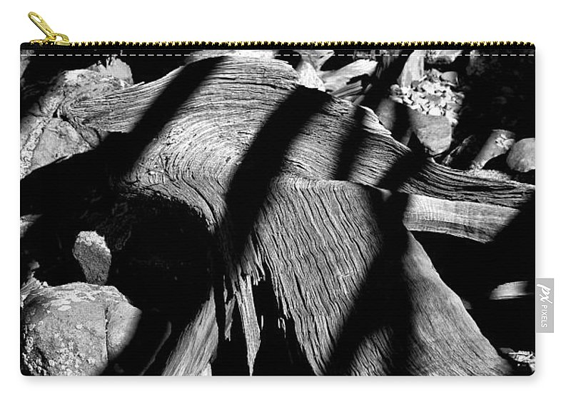 Royal Carry-all Pouch featuring the photograph Royal Deadwood Striped by Robert Meyers-Lussier