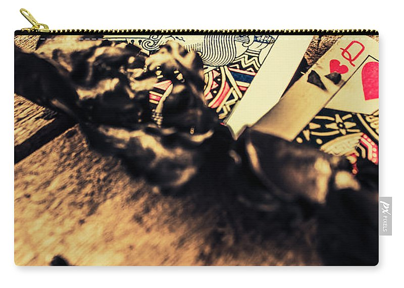 Gambling Carry-all Pouch featuring the photograph Royal Flush by Jorgo Photography - Wall Art Gallery