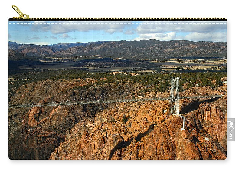 Royal Gorge Carry-all Pouch featuring the photograph Royal Gorge by Anthony Jones