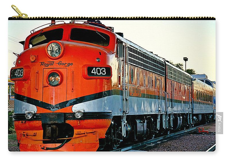 Royal Carry-all Pouch featuring the photograph Royal Gorge Engine 403 by Robert Meyers-Lussier