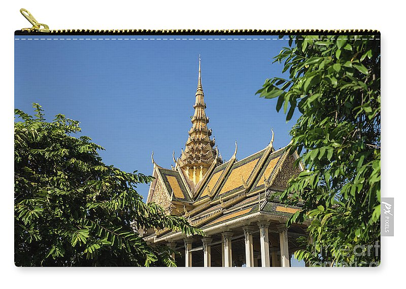 Cambodia Carry-all Pouch featuring the photograph Royal Palace 04 by Rick Piper Photography