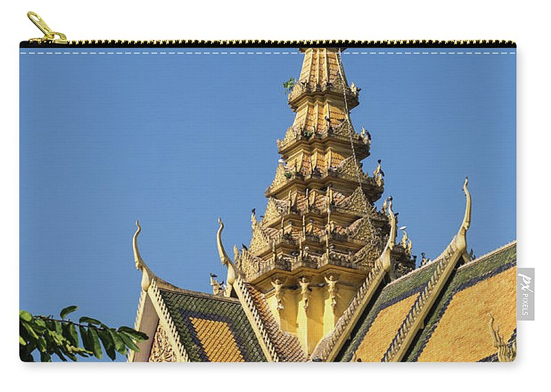 Cambodia Carry-all Pouch featuring the photograph Royal Palace 05 by Rick Piper Photography