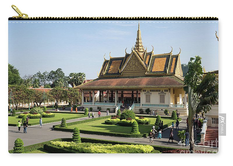 Cambodia Carry-all Pouch featuring the photograph Royal Palace 06 by Rick Piper Photography