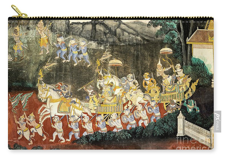 Cambodia Carry-all Pouch featuring the photograph Royal Palace Ramayana 11 by Rick Piper Photography