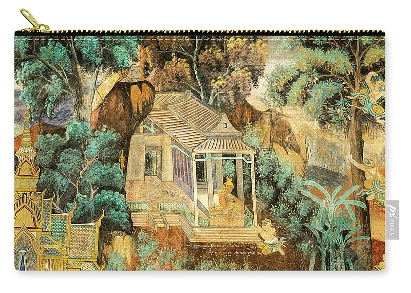 Cambodia Carry-all Pouch featuring the photograph Royal Palace Ramayana 12 by Rick Piper Photography