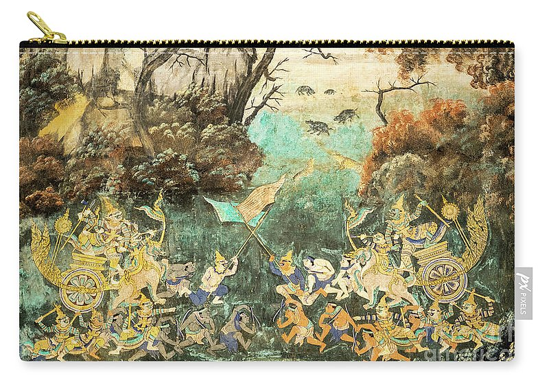 Cambodia Carry-all Pouch featuring the photograph Royal Palace Ramayana 15 by Rick Piper Photography