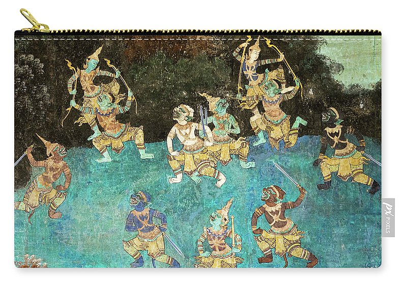 Cambodia Carry-all Pouch featuring the photograph Royal Palace Ramayana 16 by Rick Piper Photography