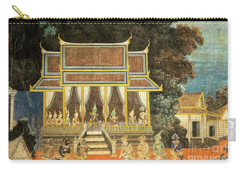 Cambodia Carry-all Pouch featuring the photograph Royal Palace Ramayana 18 by Rick Piper Photography