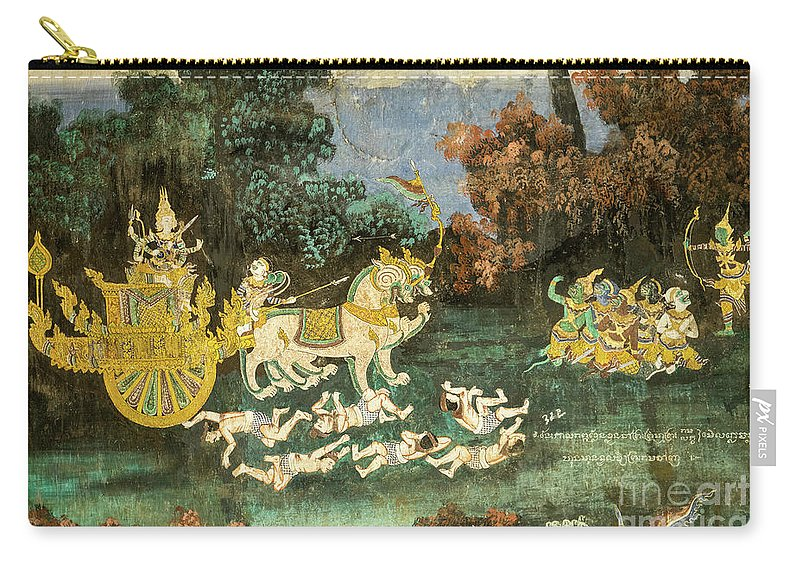Cambodia Carry-all Pouch featuring the photograph Royal Palace Ramayana 19 by Rick Piper Photography