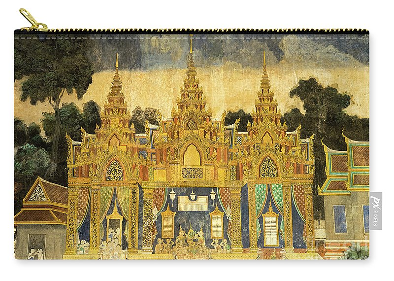 Cambodia Carry-all Pouch featuring the photograph Royal Palace Ramayana 20 by Rick Piper Photography
