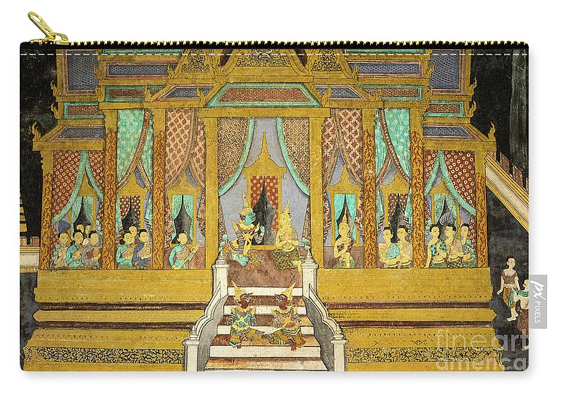 Cambodia Carry-all Pouch featuring the photograph Royal Palace Ramayana 21 by Rick Piper Photography