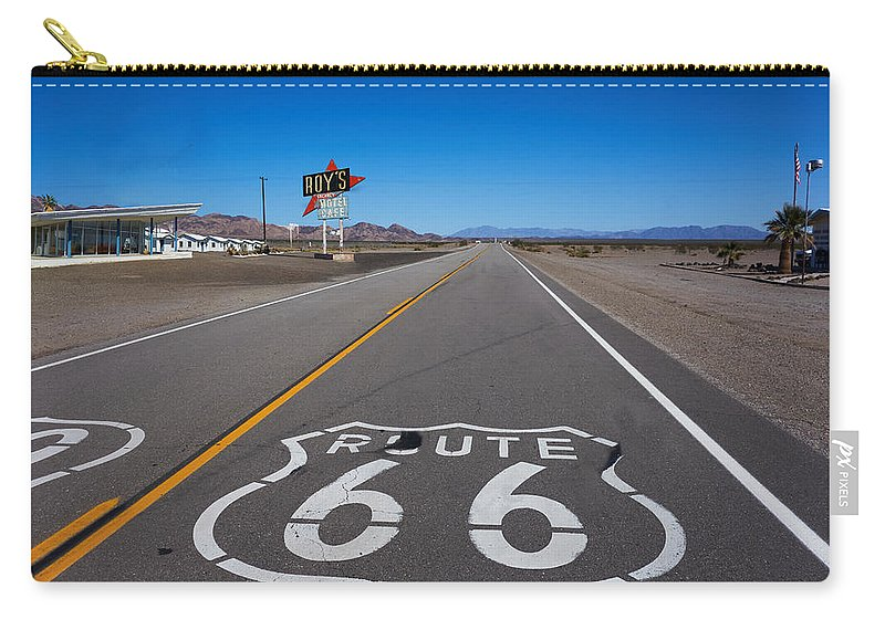 Route 66 Carry-all Pouch featuring the photograph Roy's Cafe by Steve Ondrus