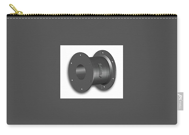 Fairlead Carry-all Pouch featuring the digital art Rubbr Fender by Ekaship Hardware LTD