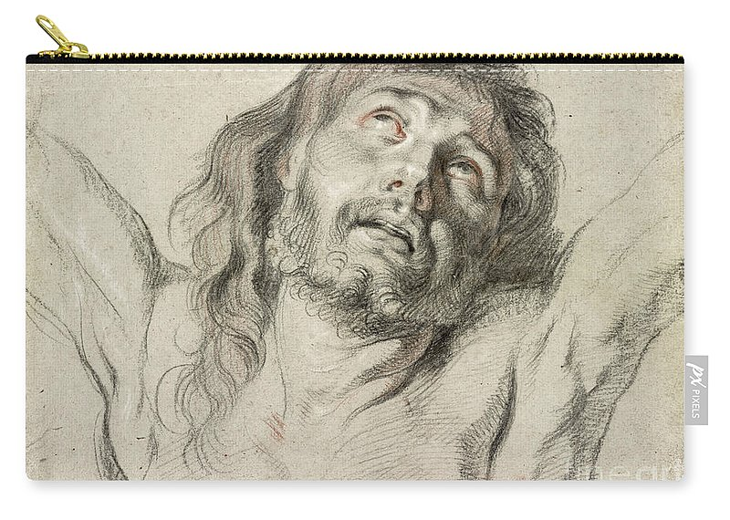17th Century Carry-all Pouch featuring the drawing Rubens, Christ. by Granger