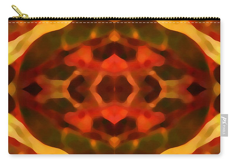 Abstract Painting Carry-all Pouch featuring the digital art Ruby Crystal Pattern by Amy Vangsgard