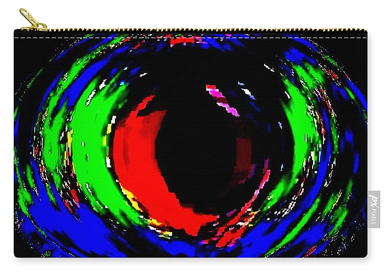 Abstract Carry-all Pouch featuring the digital art Ruby Eye by Will Borden