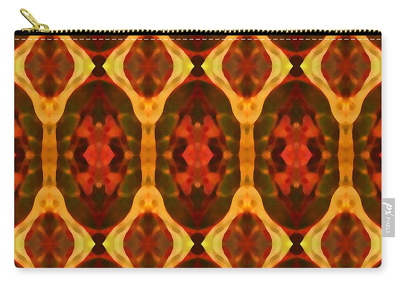 Abstract Carry-all Pouch featuring the painting Ruby Glow Pattern by Amy Vangsgard