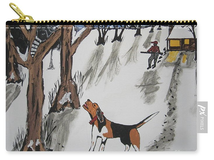 Dog Carry-all Pouch featuring the painting Ruby by Jeffrey Koss