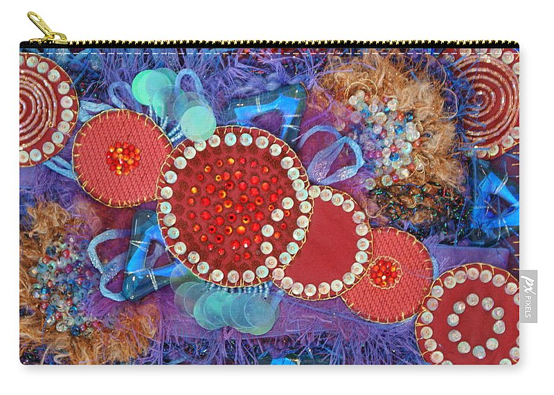 Carry-all Pouch featuring the mixed media Ruby Slippers 1 by Judy Henninger