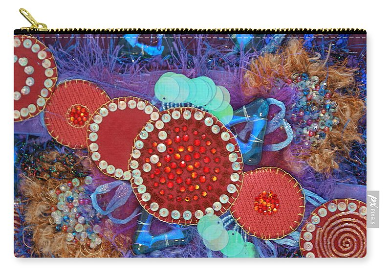 Carry-all Pouch featuring the mixed media Ruby Slippers 2 by Judy Henninger