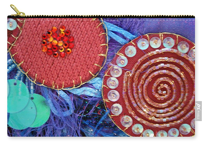 Carry-all Pouch featuring the mixed media Ruby Slippers 5 by Judy Henninger