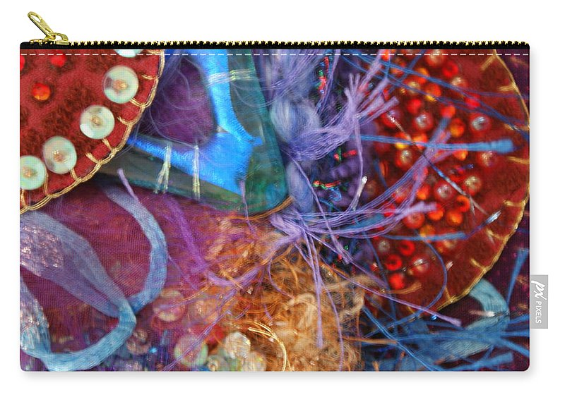 Carry-all Pouch featuring the mixed media Ruby Slippers 6 by Judy Henninger