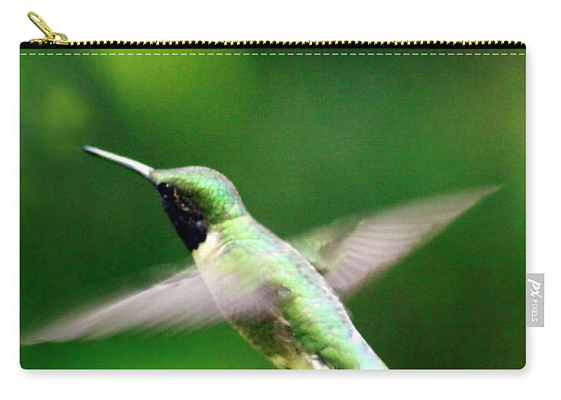 Canvas Carry-all Pouch featuring the photograph Ruby-throated by Phill Doherty