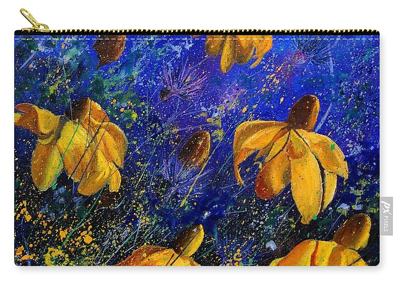Poppies Carry-all Pouch featuring the painting Rudbeckia's by Pol Ledent