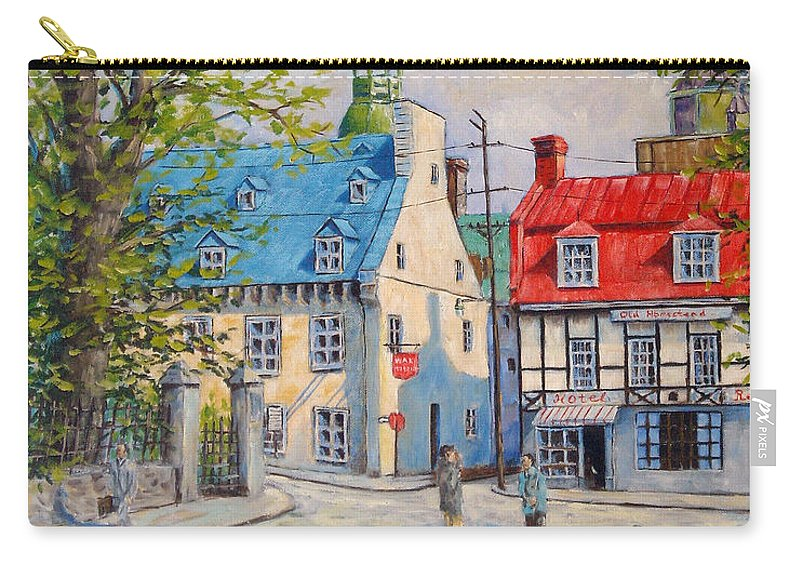 Ste Anne Carry-all Pouch featuring the painting Rue Ste Anne 1965 by Richard T Pranke