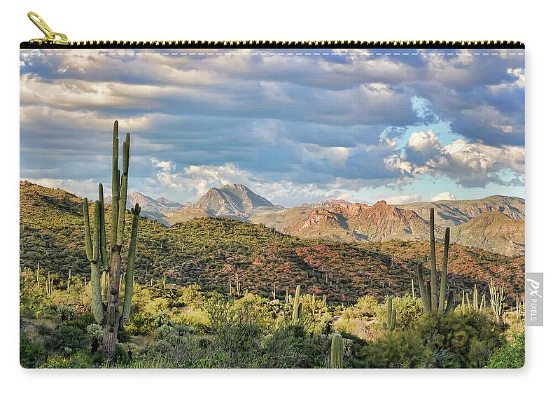 Arizona Carry-all Pouch featuring the photograph Rugged Beauty by Ryan Seek