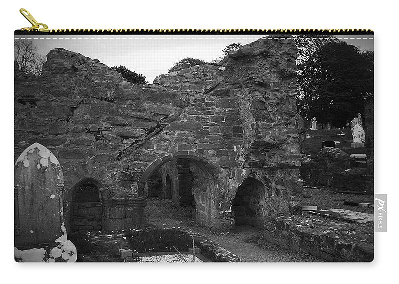 Irish Carry-all Pouch featuring the photograph Ruins At Donegal Abbey Donegal Ireland by Teresa Mucha