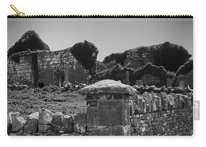 Irish Carry-all Pouch featuring the photograph Ruins In The Burren County Clare Ireland by Teresa Mucha