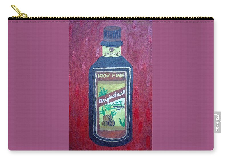 Oil On Canvas Carry-all Pouch featuring the painting Rum by Patrice Tullai