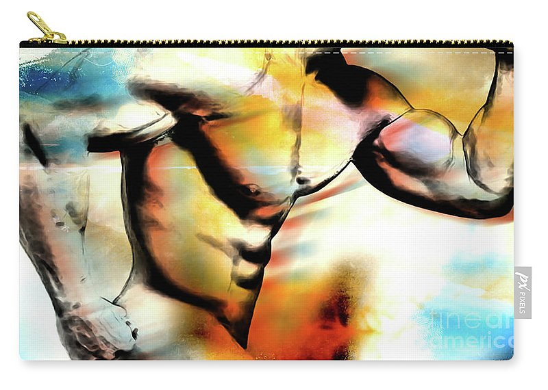 Abstract Carry-all Pouch featuring the digital art run by Mark Ashkenazi