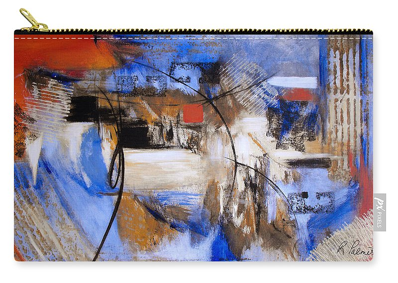 Abstract Carry-all Pouch featuring the painting Run The Race by Ruth Palmer