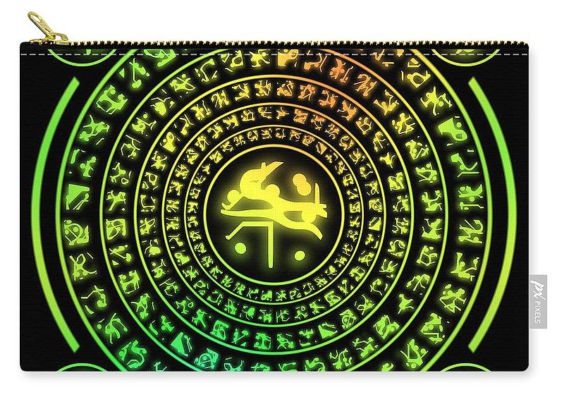 Rune Carry-all Pouch featuring the digital art Runes by Miroslav Nemecek