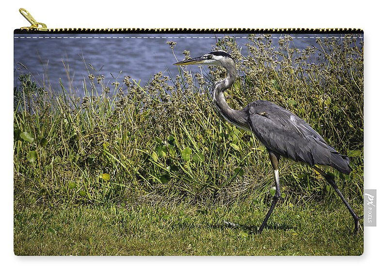 Bird Carry-all Pouch featuring the photograph Running Away by Leticia Latocki
