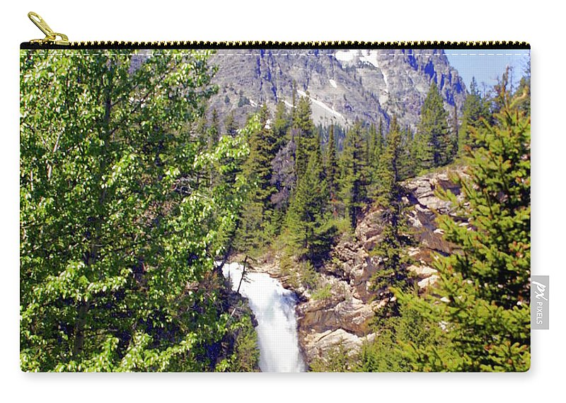 Waterfalls Carry-all Pouch featuring the photograph Running Eagle Falls Glacier National Park by Marty Koch