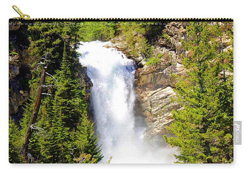 Waterfalls Carry-all Pouch featuring the photograph Running Eagle Falls by Marty Koch