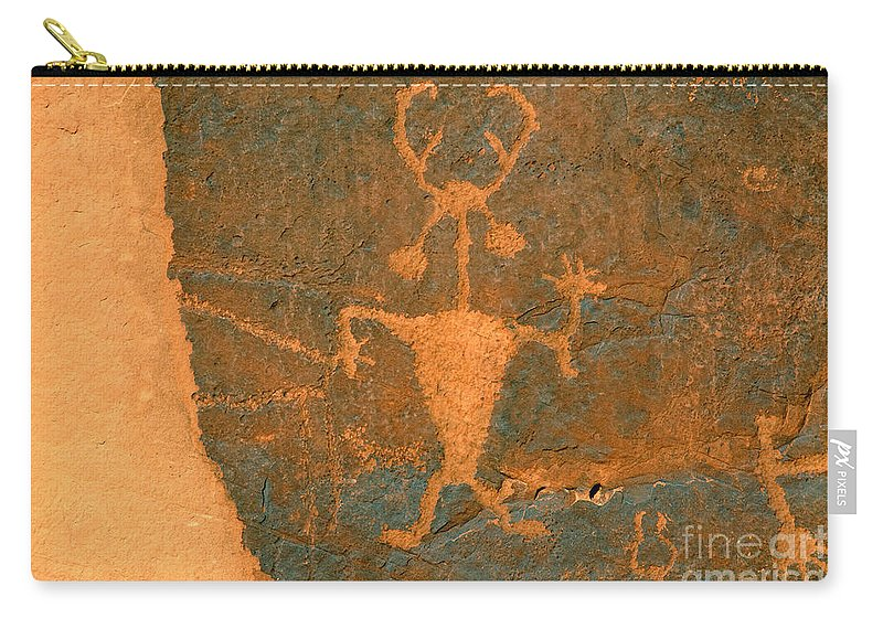 Running Carry-all Pouch featuring the photograph Running Man by David Lee Thompson