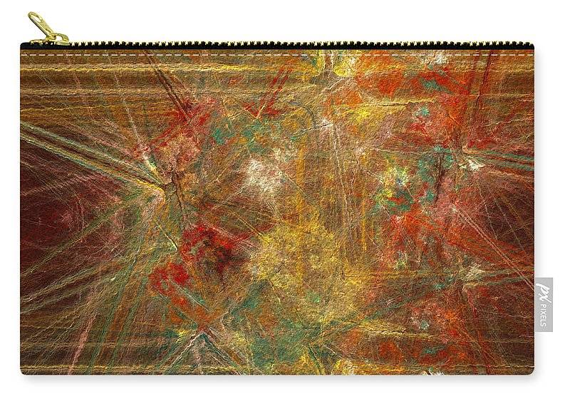 Abstract Carry-all Pouch featuring the digital art Runways by Diane Parnell