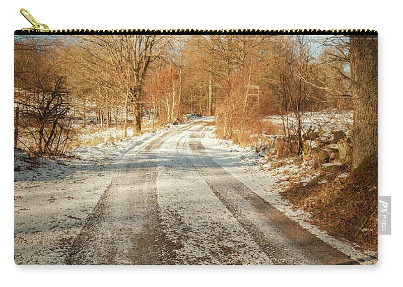 Warm Carry-all Pouch featuring the photograph Rural Country Road by Sophie McAulay