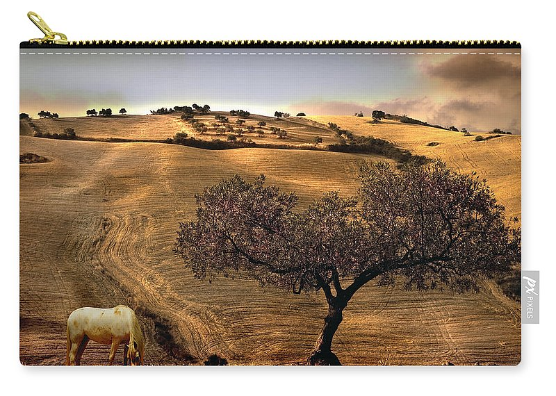 Landscape Carry-all Pouch featuring the photograph Rural Spain View by Mal Bray