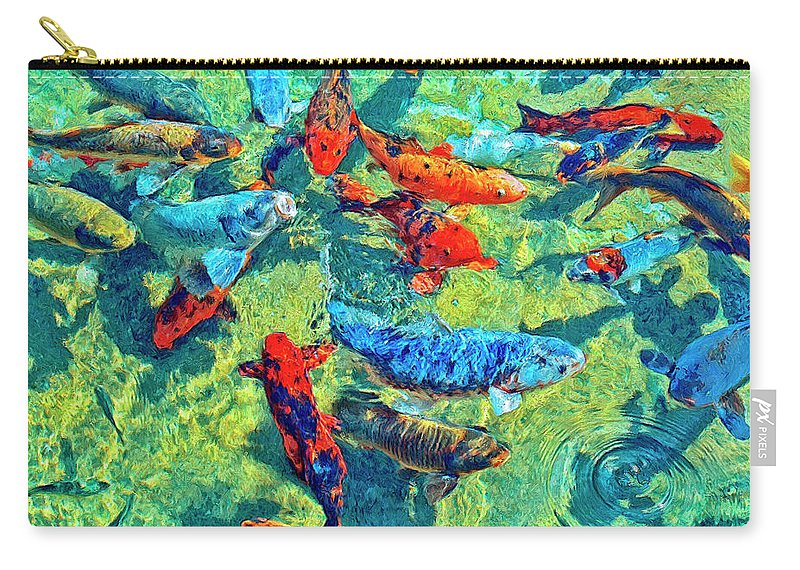 Koi Carry-all Pouch featuring the painting Rush Hour by Dominic Piperata