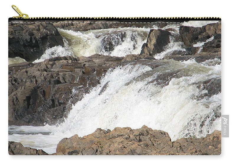 Waterfall Carry-all Pouch featuring the photograph Rushing by Kelly Mezzapelle