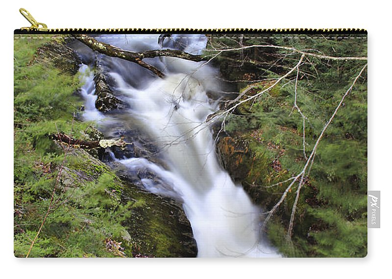 Rural Carry-all Pouch featuring the photograph Rushing Montgomery Brook by Deborah Benoit