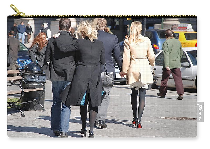Urban Carry-all Pouch featuring the photograph Rushing To The Alter by Rob Hans
